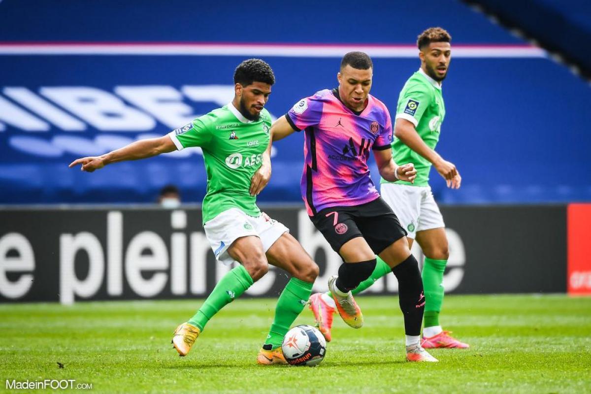 L'AS Saint-Etienne s'est inclinée face au Paris Saint-Germain (3-2), ce dimanche après-midi en Ligue 1.