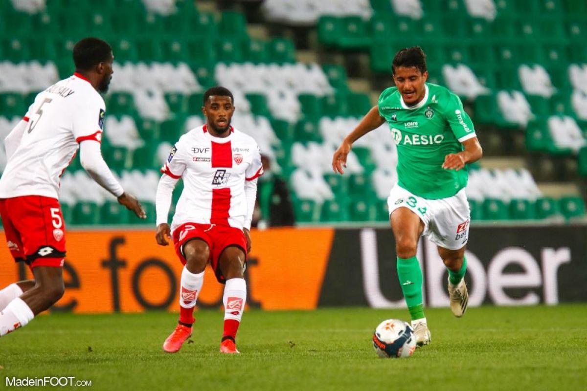 Aïmen Moueffek, le milieu de terrain de l'AS Saint-Etienne.
