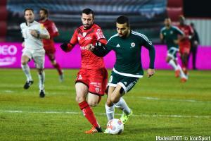 Naïm Sliti sous le maillot du Red Star