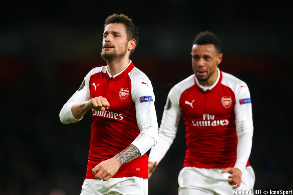 Mathieu Debuchy, ici sous les couleurs d'Arsenal.